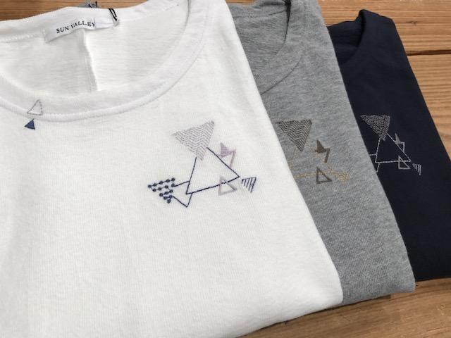 三角刺繍プルオーバーカラバリ
