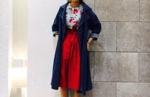 赤スカートコーデ! @やす
