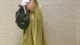 袴田の『黄色と花柄コーデ』