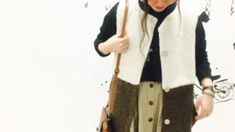 【Cheer】の新作ボアベストで秋のカジュアルスタイル♪♪byまっちゃん