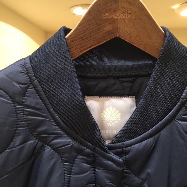 キルティングコート襟