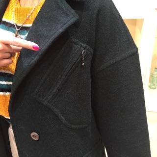 コート胸ポケット
