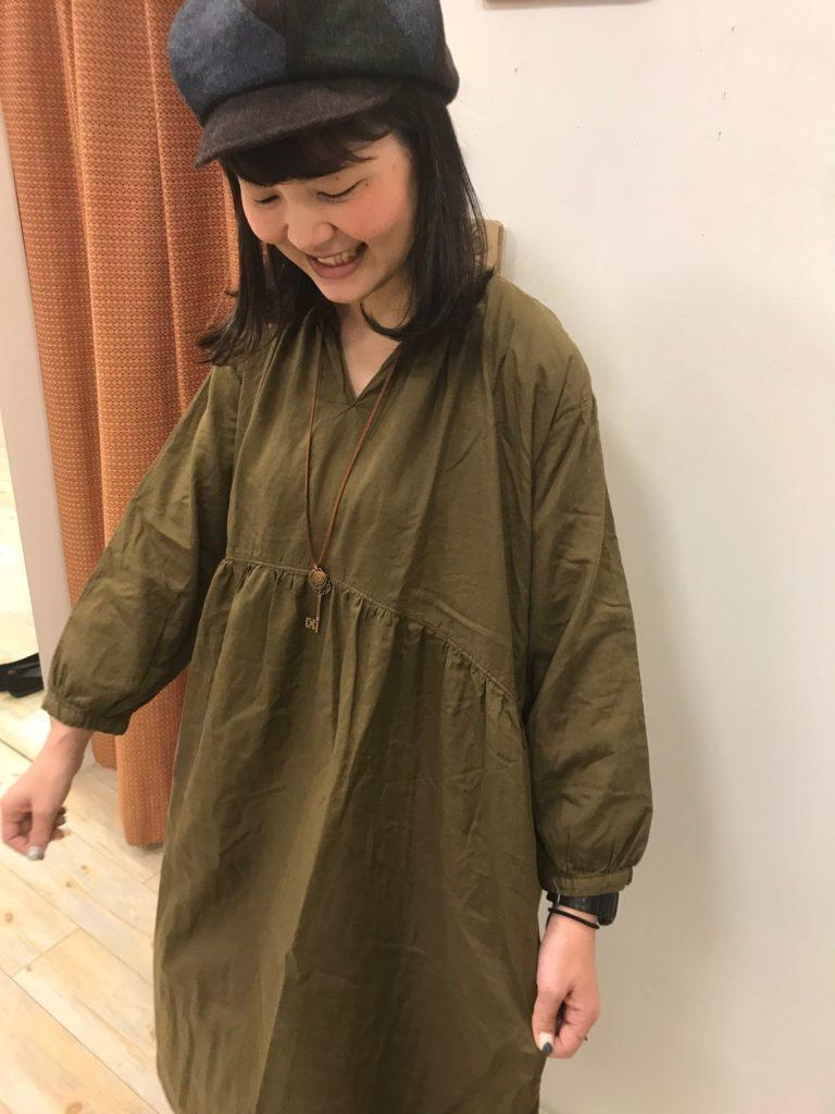 シャツワンピ詳細①