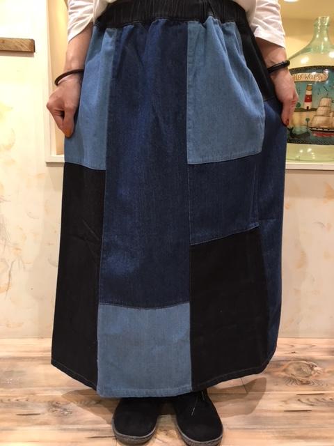 デニムスカート1