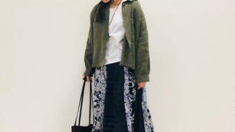 【JEAN NASSAUS】の新作スカートでナチュラル×柄コーデ★★byまっちゃん