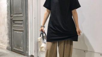 楽ちん☆細プリーツワイドパンツのご紹介