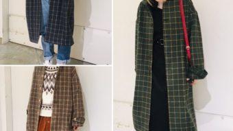 【rivet&surge】チェックコートの着まわしコーデ♡