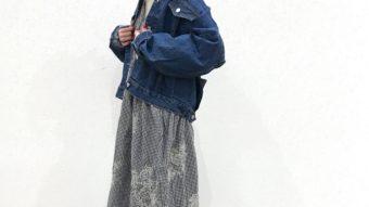 『ギンガム×デニム』春の王道ワンピコーデ