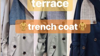 ★【terrace 】チェックトレンチコート★