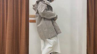 白ワンピースで春コーデ。by梅本