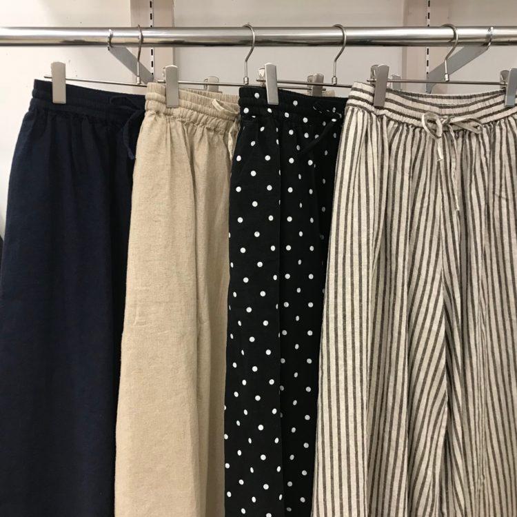 麻パンツ色