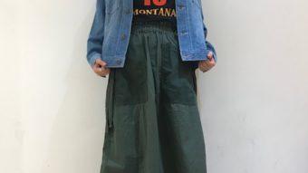 TOBIRA・john bull リメイクスカートで春スタイリング