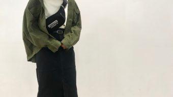 《Antguage》の新作ミリタリージャケット+ ペンシルスカートで、秋コーデ♪