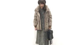 《Antguage》のダウンジャケットと《THE NORTH FACE》のブーツで暖か冬コーデ♪