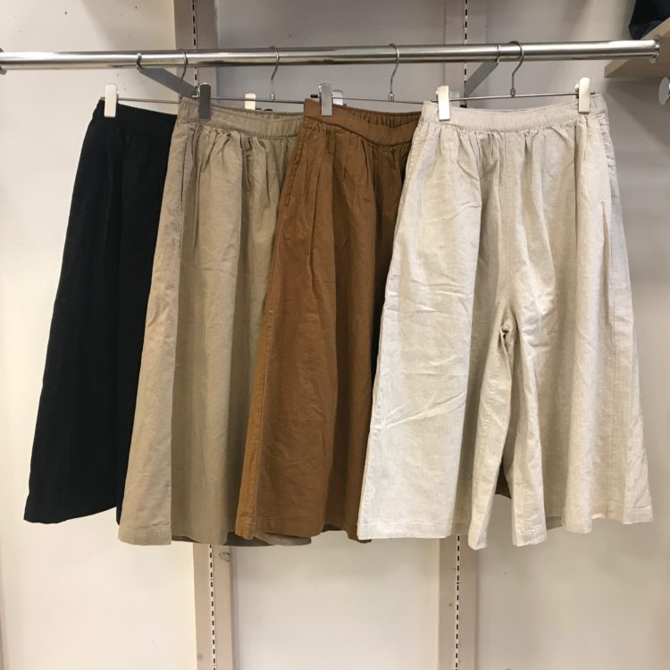 綿麻平織パンツ色