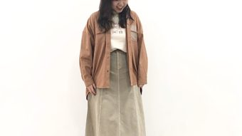 《GENTIL》の新作ブリックカラーシャツで作る♡春色カジュアルスタイル˚✧₊