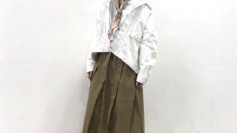 《ベージュ×ホワイト》春のジャケットコーデ♪♪