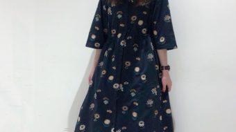 【marble SUD】の刺繍ベルスリーブワンピース