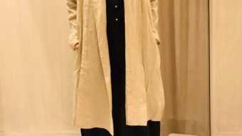 【08mab】14番手リネンロングカーデ