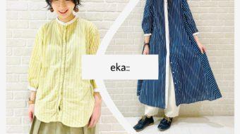 『 eka:: / エーカ 』ストライプシャツ&ワンピース
