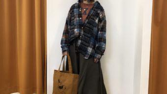 【TOBILA】チェック&デニムシャツで秋コーデ
